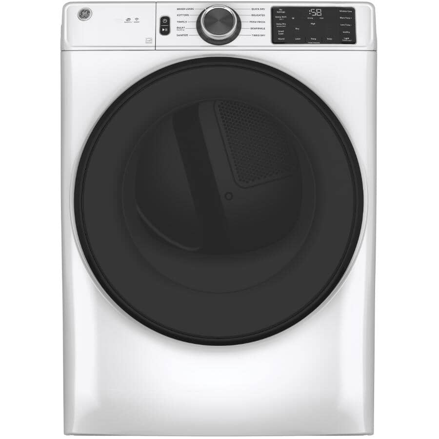 GE:7.8 cu. ft. Electric Front Load Dryer - White