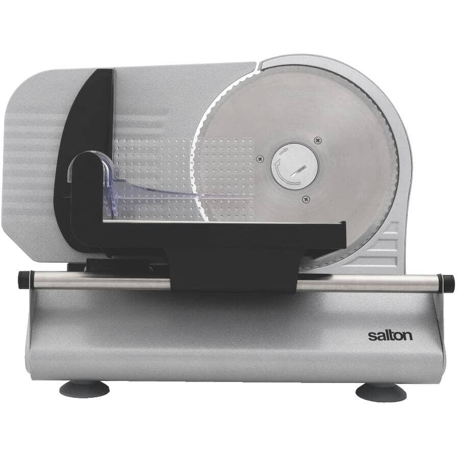 SALTON:120 Watt Stainless Steel Electric Food Slicer