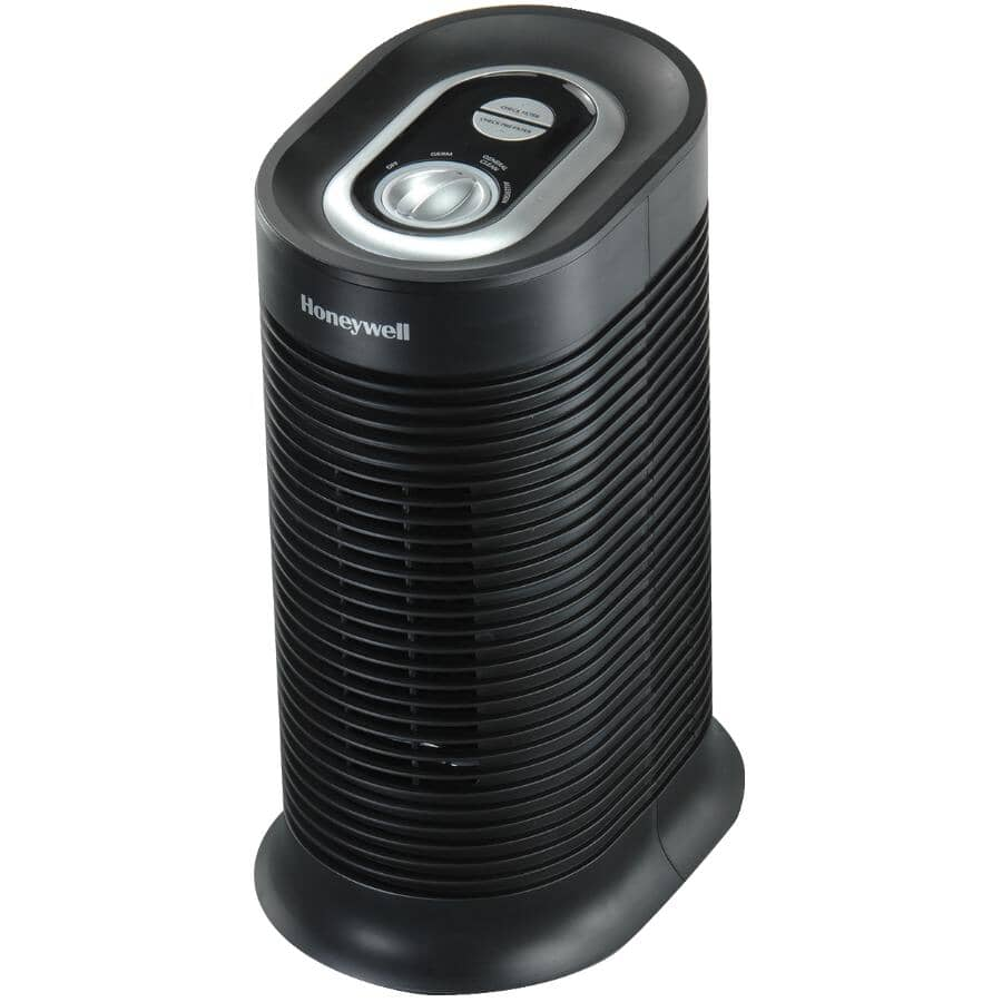HONEYWELL:True HEPA Compact Tower Air Purifier - with Allergen Remover, Black