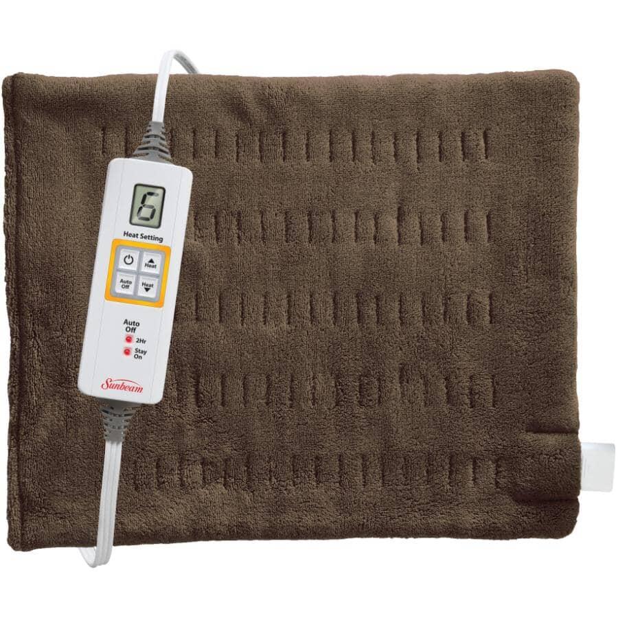 "SUNBEAM:Dry / Moist 6 Heat Xpress Heating Pad - 12"" x 24"""