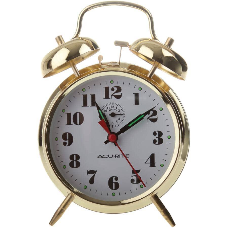 ACU-RITE:2-Bell Brass Alarm Clock
