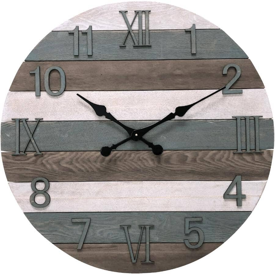 """INSTYLE:30"""" Round Wall Clock - Multicoloured"""