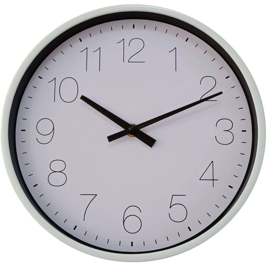 """HOME ACCENT:10"""" Round Wall Clock - White"""
