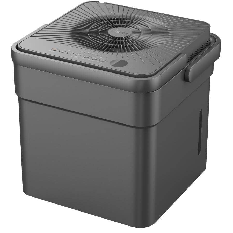 MIDEA:50 Pint Cube Portable Dehumidifier - Black