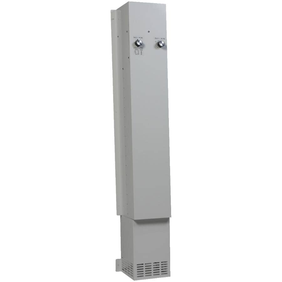 NU-AIR:Eliminator Basement Dehumidifier (ELIM80) - with Air Extractor, White