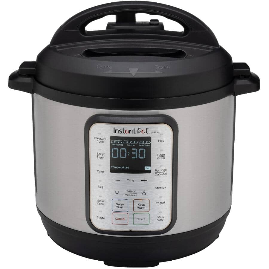 INSTANT POT:Duo Plus 6 Qt Pressure Cooker - Stainless Steel / Black