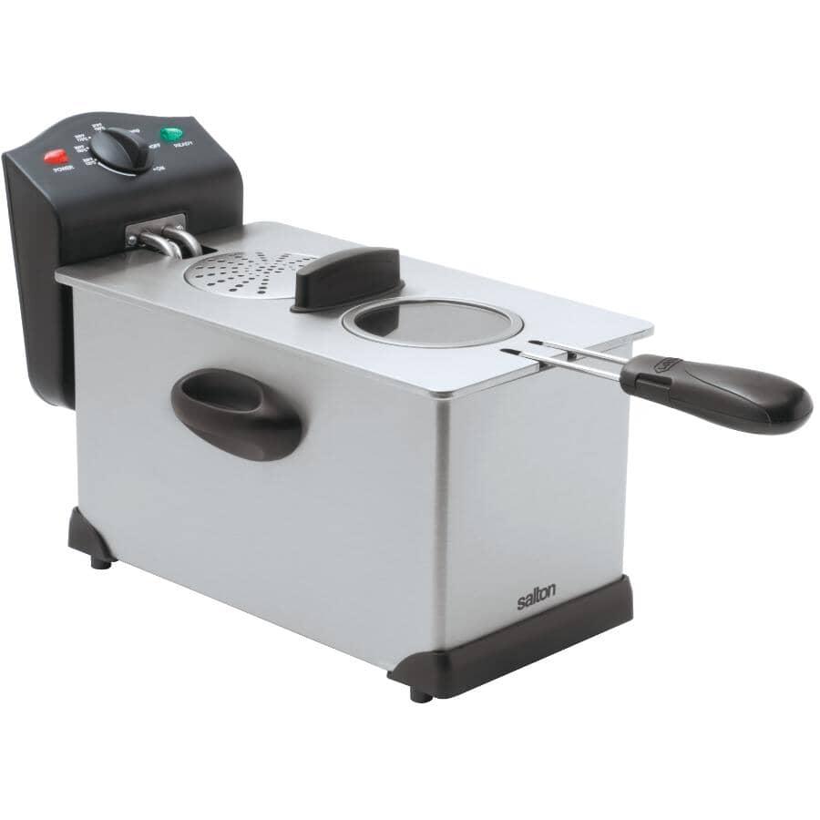 SALTON:1500 Watt 3L Stainless Steel Deep Fryer, with Removable Pot