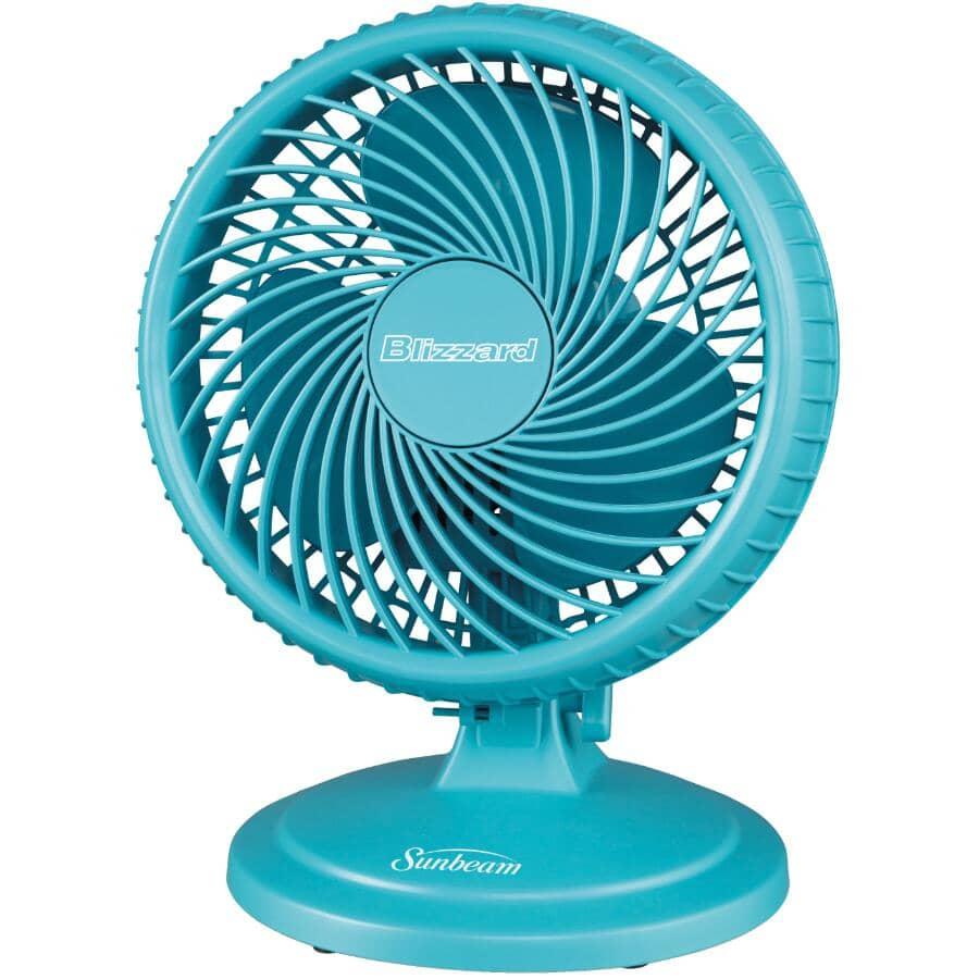 SUNBEAM:Ventilateur Blizzard à 2 vitesses de 8 po pour table, couleurs variées