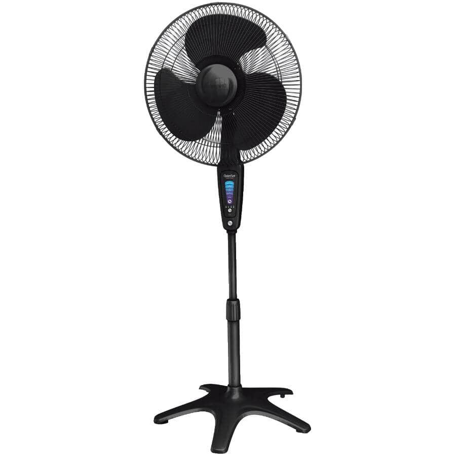 "HONEYWELL:16"" QuietSet Stand Fan - with 5 Speeds + Remote, Black"
