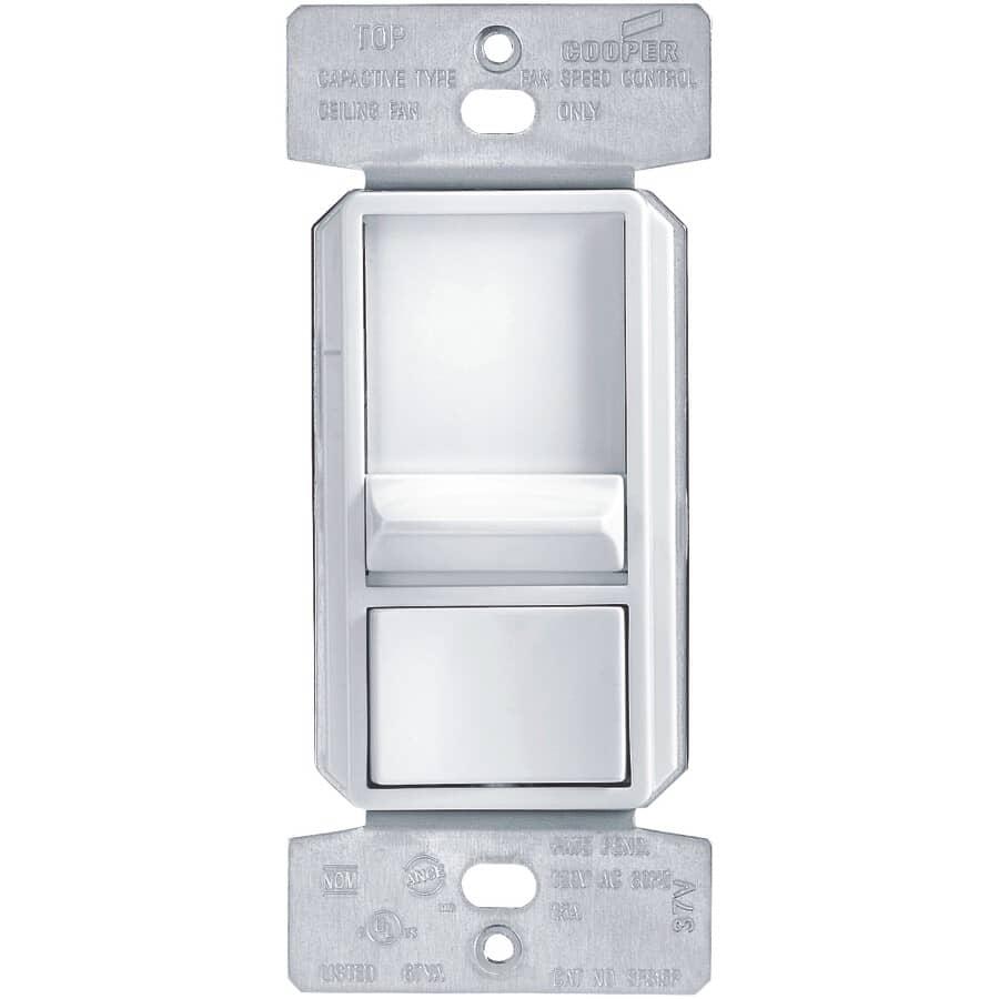 EATON:3-Speed Slide Fan Control - White