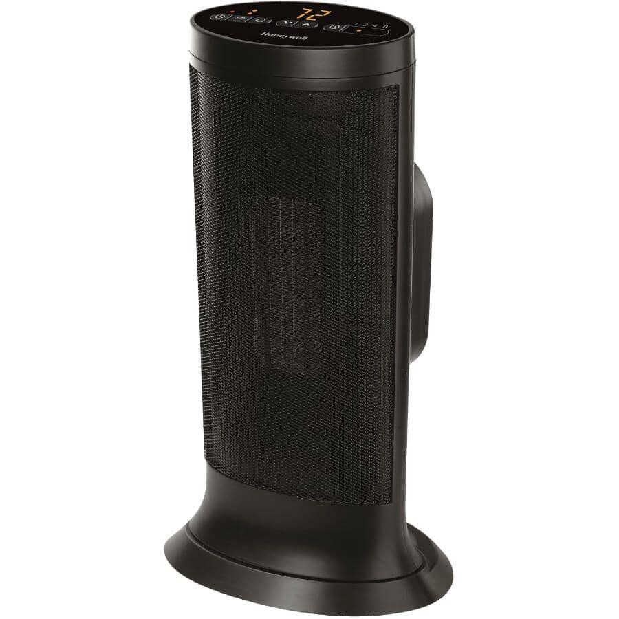 HONEYWELL:750W - 1500W Slim Ceramic Tower Heater - Black