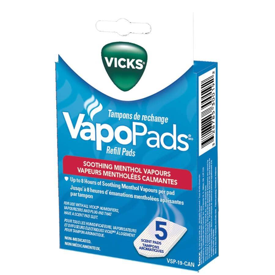 VICKS:Paquet de 5 tampons de recharge VapoPads