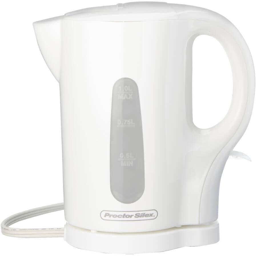 PROCTOR SILEX:Electric Kettle - Cordless + White, 1 L