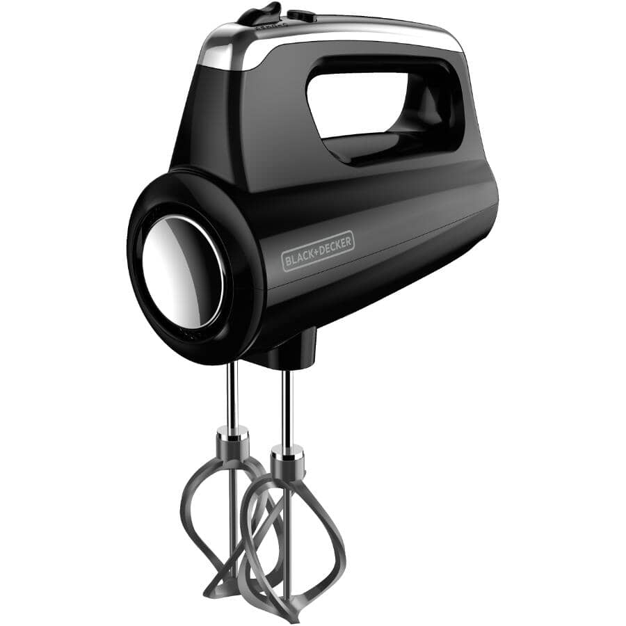 BLACK & DECKER:250 Watt Helix Performance Premium 5 Speed Black Hand Mixer