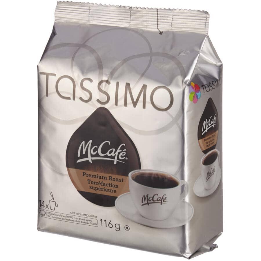 TASSIMO:14 Pack McCafe Premium Dark Roast Coffee T-Discs
