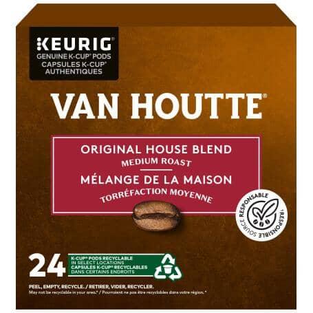 KEURIG:Single Serve Van Houtte Original House Blend Medium Roast Coffee K-Cup® Pods - 24 Pack