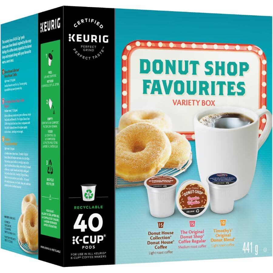 KEURIG:40 Pack Single Serve Donut Shop Variety Coffee K-Cup® Pods