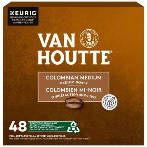 KEURIG:48 Pack Single Serve Van Houtte Medium Columbian Roast K-Cup® Pods