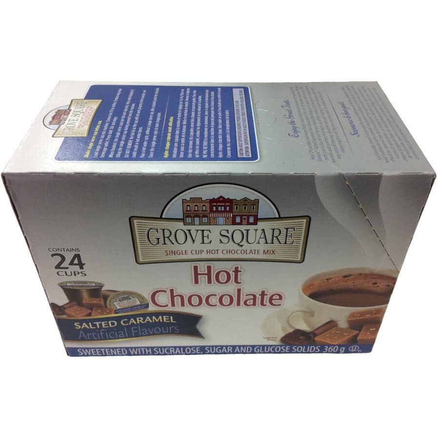 GROVE SQUARE:24 Pack Single Serve Salted Caramel Hot Chocolate Cups