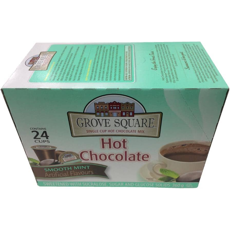 GROVE SQUARE:24 Pack Single Serve Mint Hot Chocolate Cups