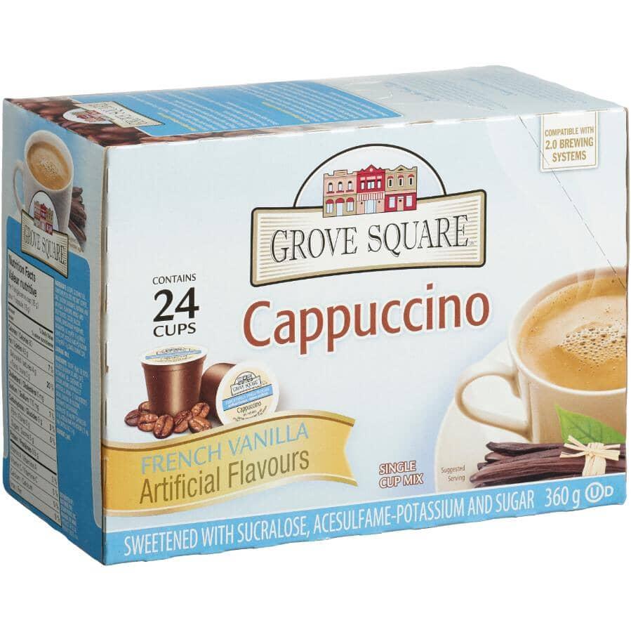 GROVE SQUARE:24 Pack Single Serve Cappuccino French Vanilla Cups