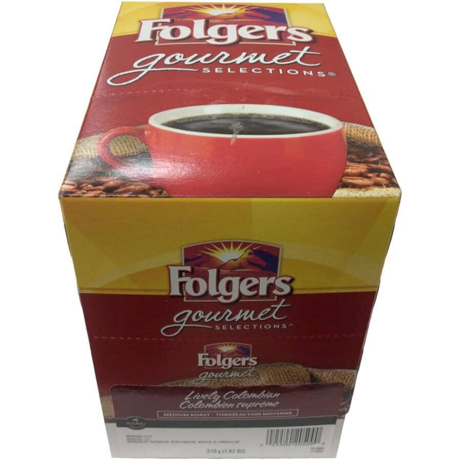 KEURIG:24 Pack Single Serve Folgers Medium Roast Lively Columbian Blend Coffee K-Cup® Pods