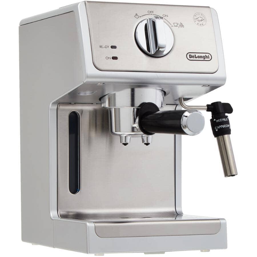 DELONGHI:Manual Espresso Machine & Cappuccino Maker - Stainless Steel
