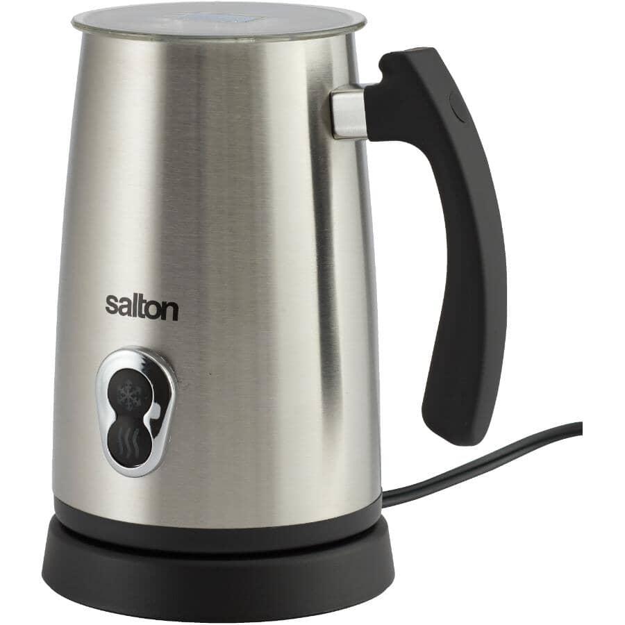SALTON:Milk Frother - Cordless, Stainless Steel