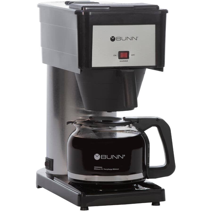BUNN:10 Cup BX-B Black/Stainless Steel Basket Coffee Maker
