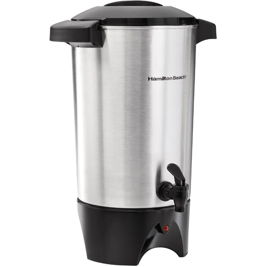 HAMILTON BEACH:45 Cup Black/Aluminum Coffee Urn