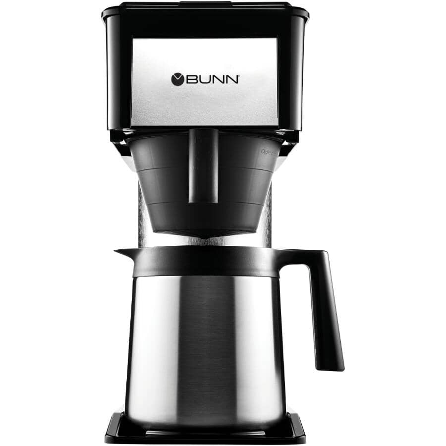 BUNN:10 Cup BTX-B Black/Stainless Steel Coffee Maker, with Thermal Carafe