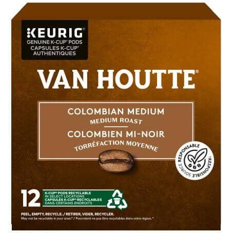 KEURIG:12 Pack Single Serve Van Houtte Medium Columbian Roast Coffee K-Cup® Pods