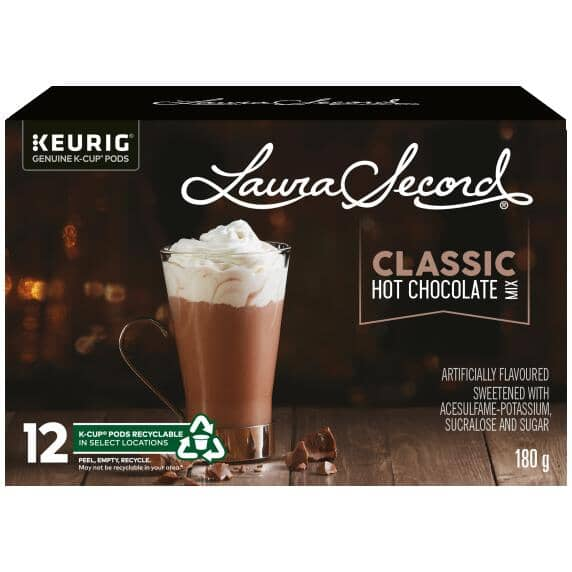 KEURIG:12 Pack Single Serve Laura Secord Hot Chocolate K-Cup® Pods