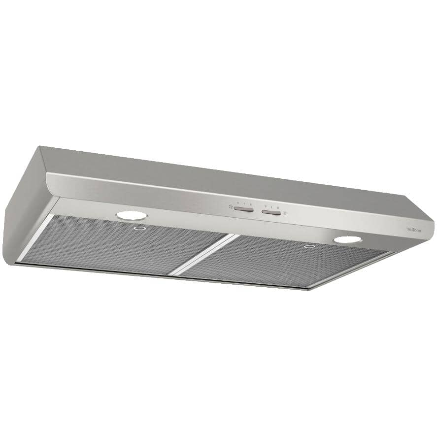 "NUTONE:30"" Stainless Steel Under Cabinet Range Hood - 300 Max CFM"