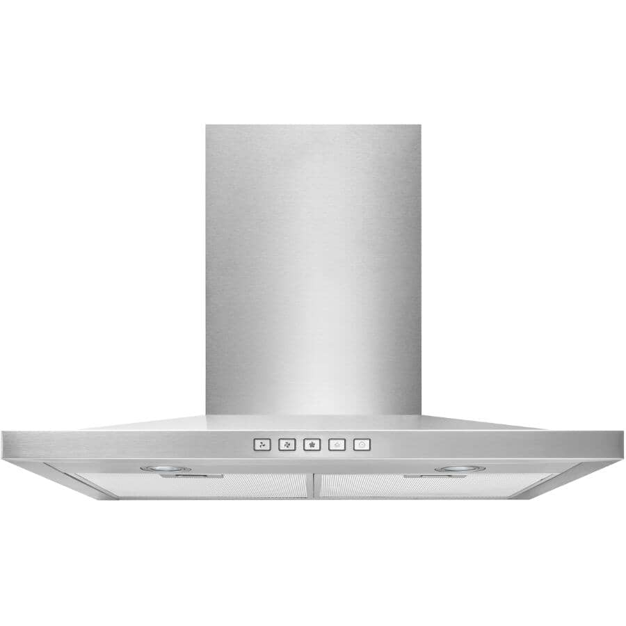 """BROAN:Slim Pyramid Wall Mounted Range Hood - with LED Light, 30"""", Stainless Steel"""
