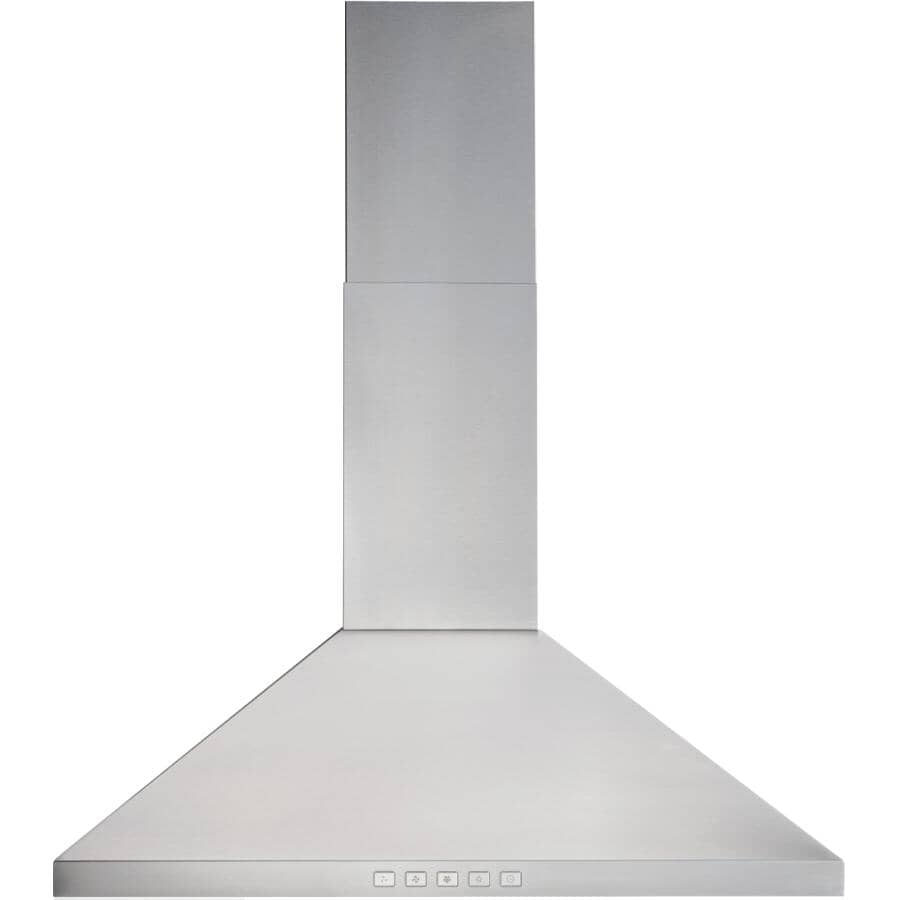 """BROAN:Traditional Pyramid Wall Mounted Range Hood - with LED Light, 30"""", Stainless Steel"""