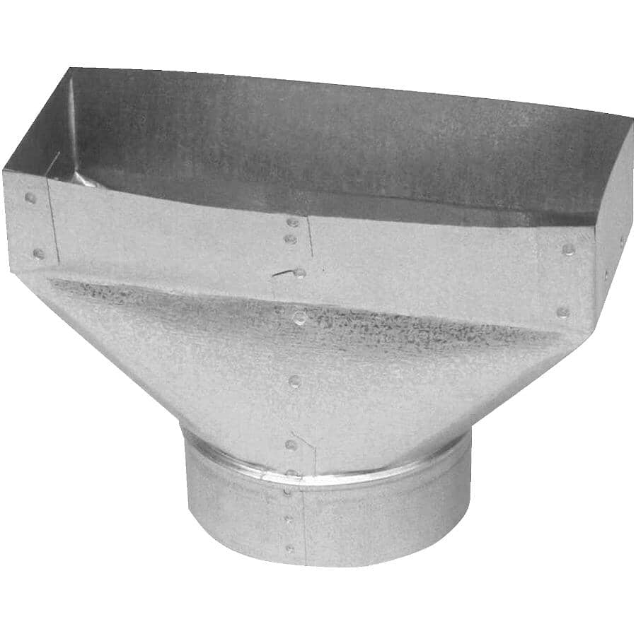 """IMPERIAL MANUFACTURING:3-1/4"""" x 10"""" x 5"""" Universal Boot Duct"""