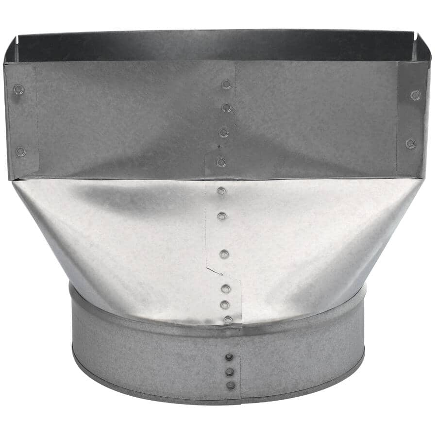"""IMPERIAL MANUFACTURING:3-1/4"""" x 10"""" x 4"""" Universal Boot Duct"""