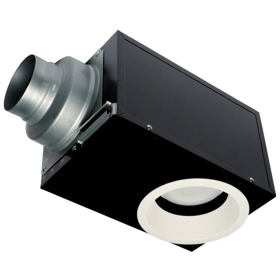PANASONIC:80 CFM 1.0 Sone Recessed Vent Fan with Light