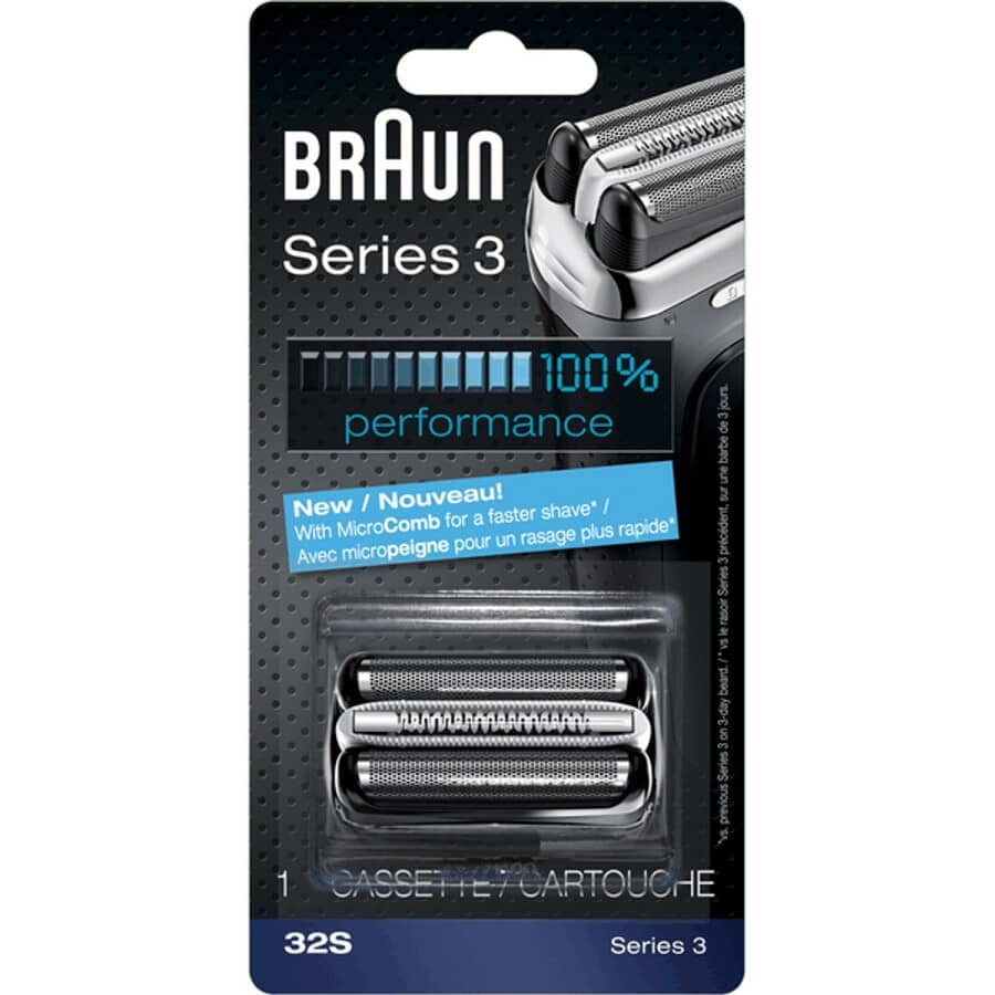 BRAUN:Silver Mens Series3 Shaver Replacement Foil and Cutter