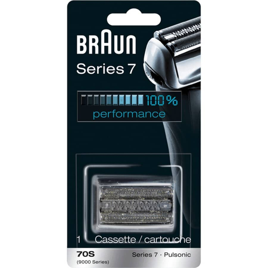 BRAUN:Silver Mens Series7 Shaver Replacement Foil and Cutter