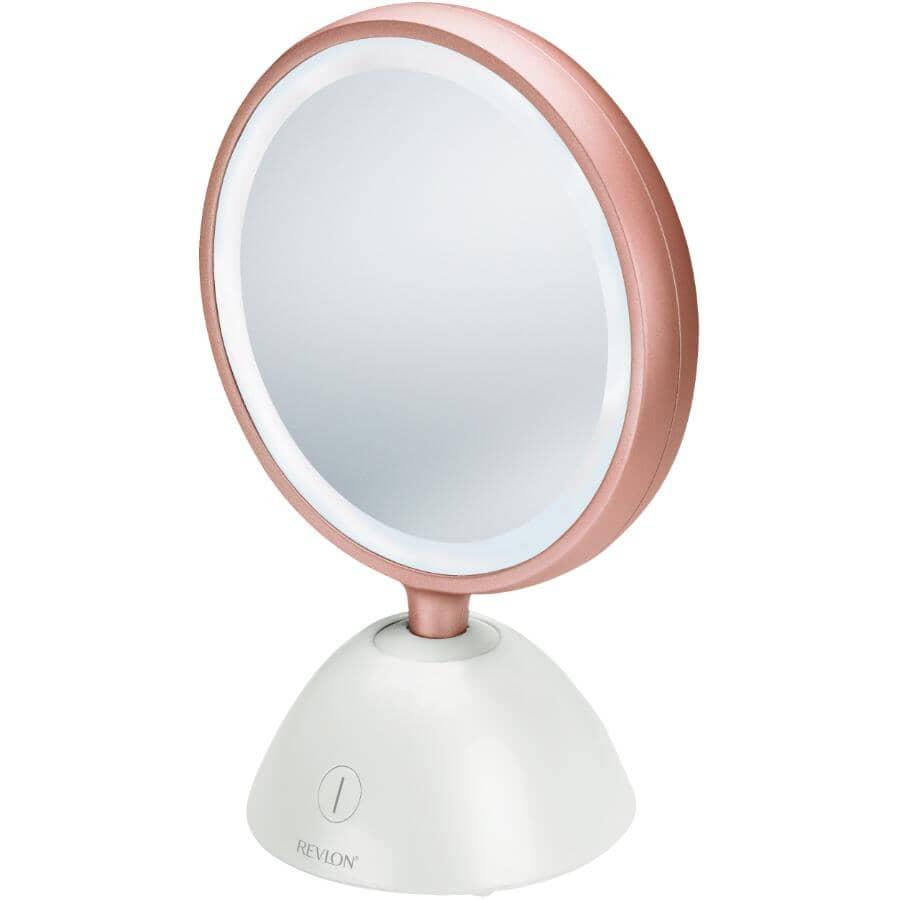 REVLON:1x+5x Round Table Top Lighted Makeup Mirror