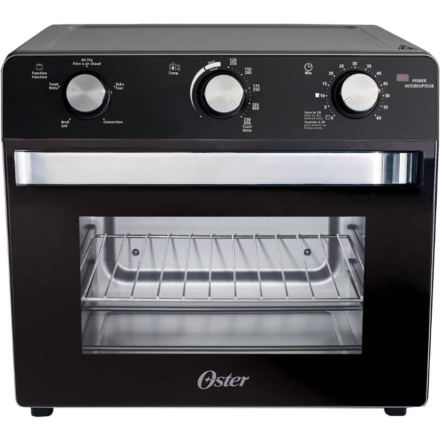 OSTER:Black Air Fryer/Convection Toaster Oven