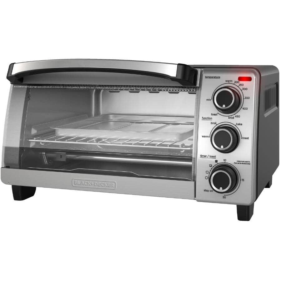 BLACK & DECKER:4-Slice Natural Convection Toaster Oven