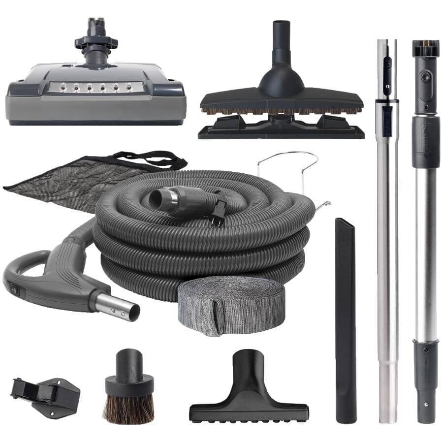 NUTONE:35' Universal Central Vacuum Stystem Premier Electric Hose and Tool Set