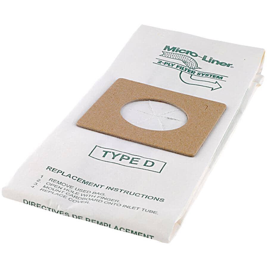 HOME CARE:3 Pack Type D Dirt Devil Vacuum Bags