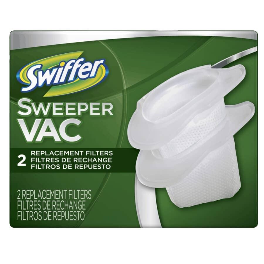 SWIFFER:Paquet de 2 filtres pour aspirateur à godet Swiffervac