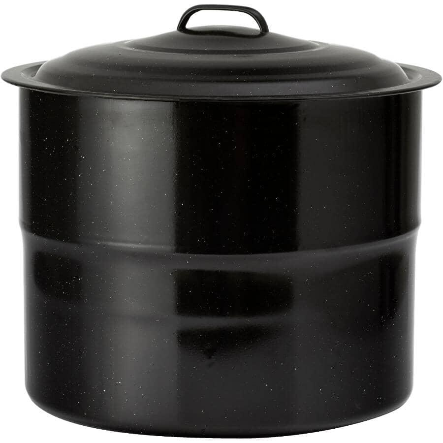 KITCHEN VALUE:40 Quart 9 Jar Black Enamel Canner