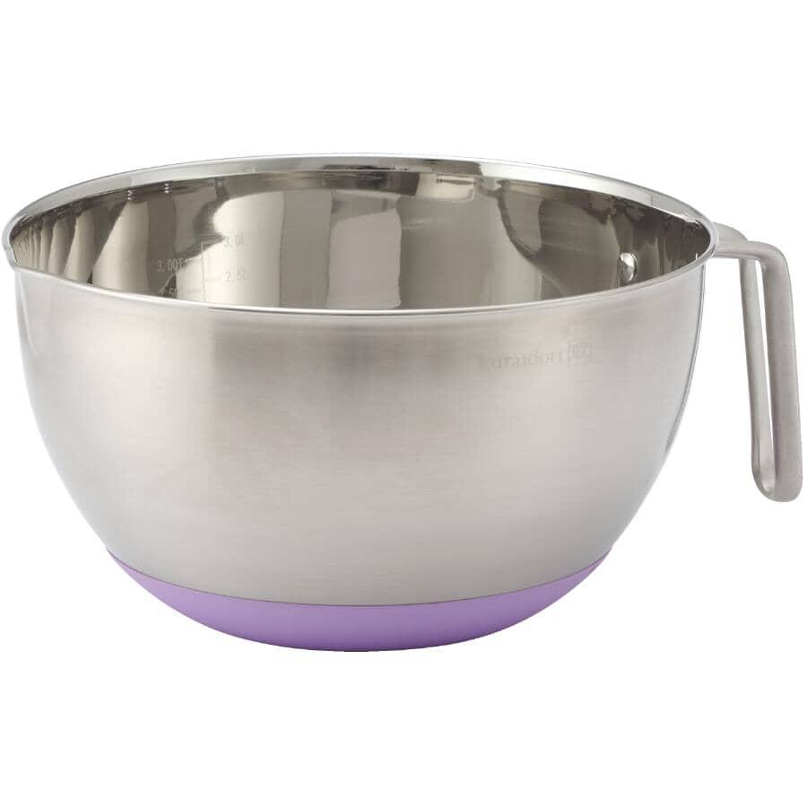KURAIDORI:Stainless Steel Mixing Bowl - with Handle, 3 L