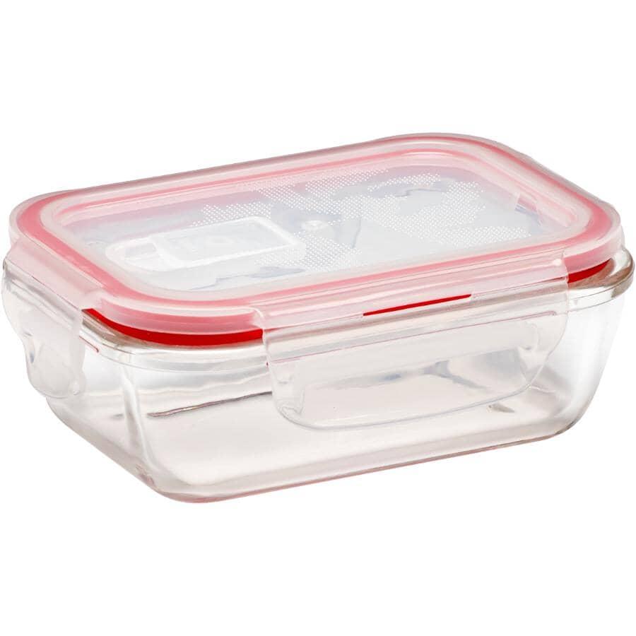 STORE N LOCK:Rectangular Glass Storage Dish - 400 ml